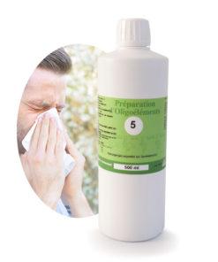 Image Oligoelements 500ml Oligaller Pour traiter les allergies