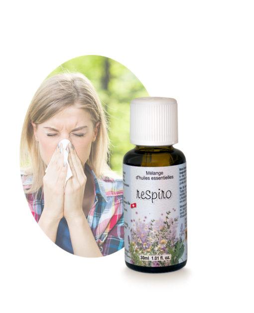 Respiro Mélange d'huiles essentielles Problèmes Respiratoires