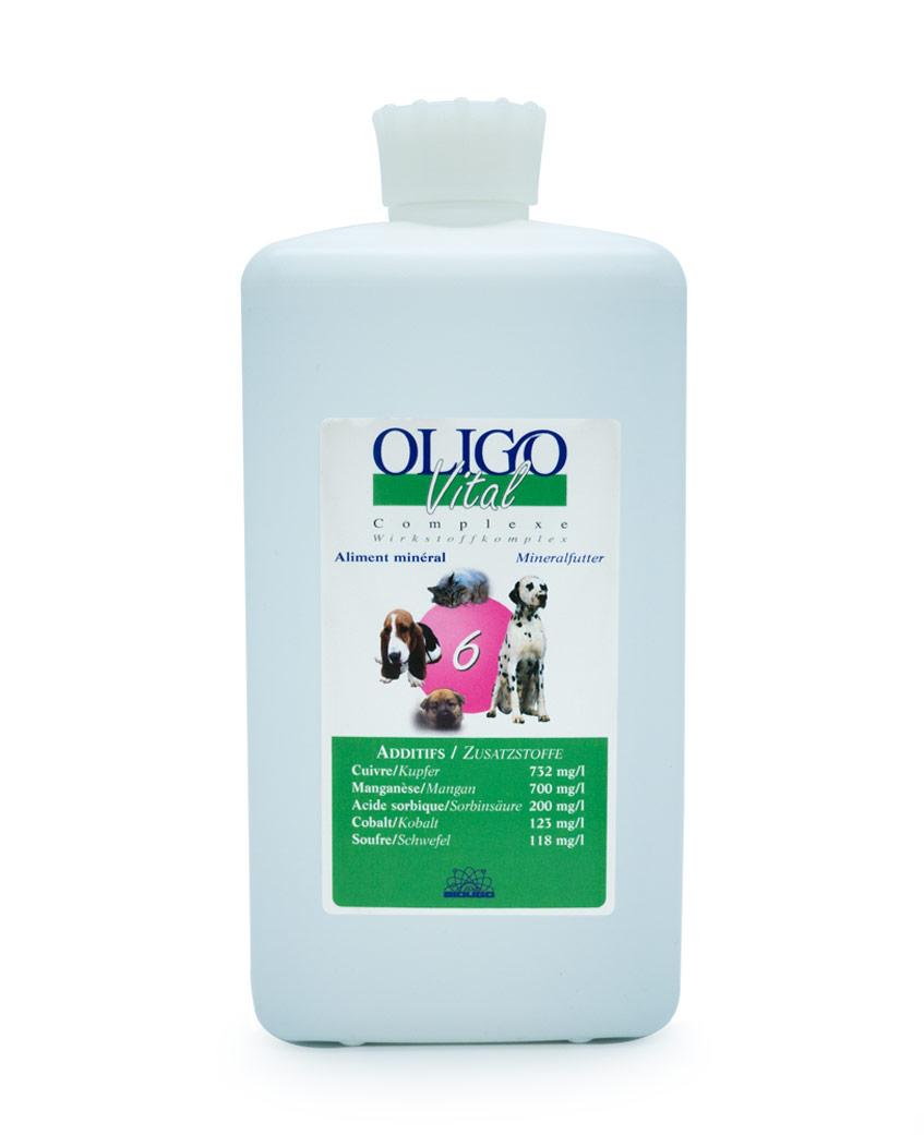 Préparation oligoéléments vétérinaires Oligovital6 1000ml allergies