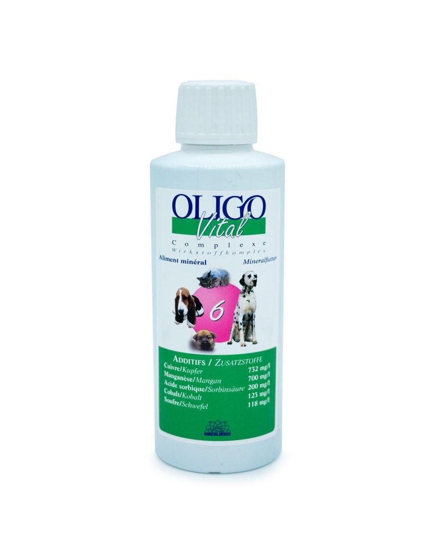 Préparation oligoéléments vétérinaires Oligovital6 250ml allergies